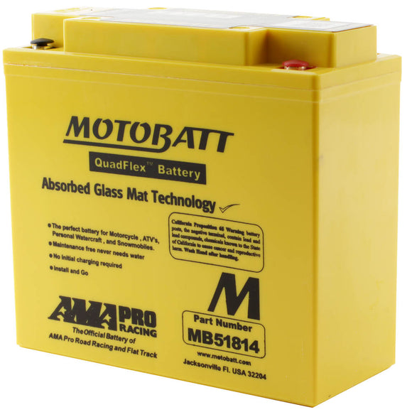 MB51814 MOTOBATT QUADFLEX BATTERY (51913) (4PCS/CTN)