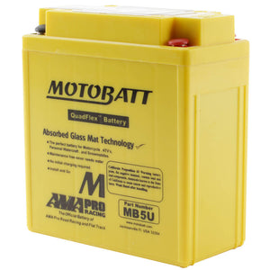 MB5U MOTOBATT QUADFLEX BATTERY (10PCS/CTN)