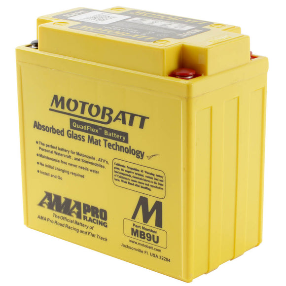 MB9U MOTOBATT QUADFLEX BATTERY (8PCS/CTN)