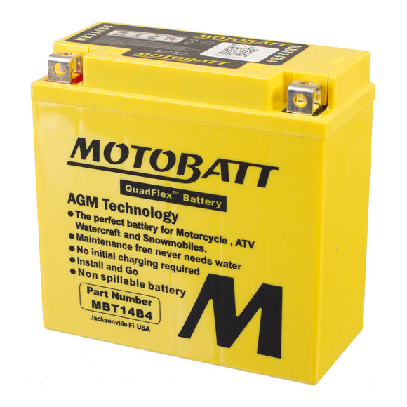 MBT14B-4 MOTOBATT QUADFLEX BATTERY (6PCS/CTN)