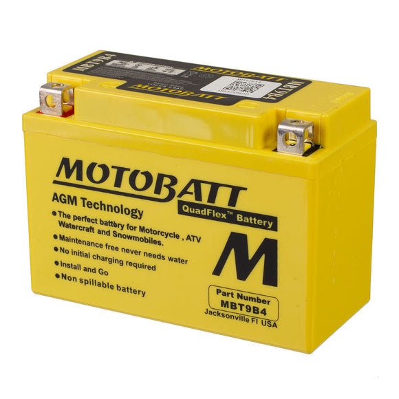 MBT9B4 MOTOBATT QUADFLEX BATTERY (6PCS/CTN)