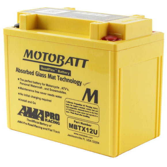 MBTX12U MOTOBATT QUADFLEX BATTERY (4PCS/CTN)