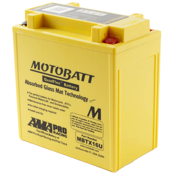 MBTX16U MOTOBATT QUADFLEX BATTERY (4PCS/CTN)
