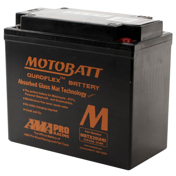 MBTX20UHD BLACK  MOTOBATT QUADFLEX BATTERY