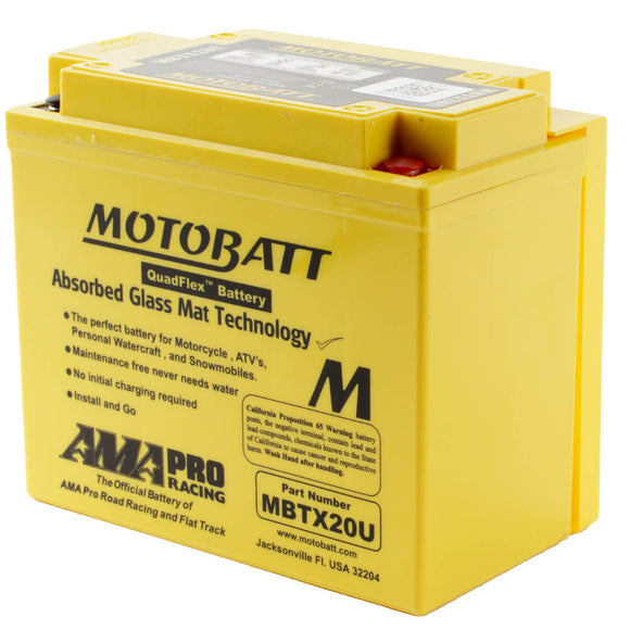 MBTX20U MOTOBATT QUADFLEX BATTERY (4PCS/CTN)