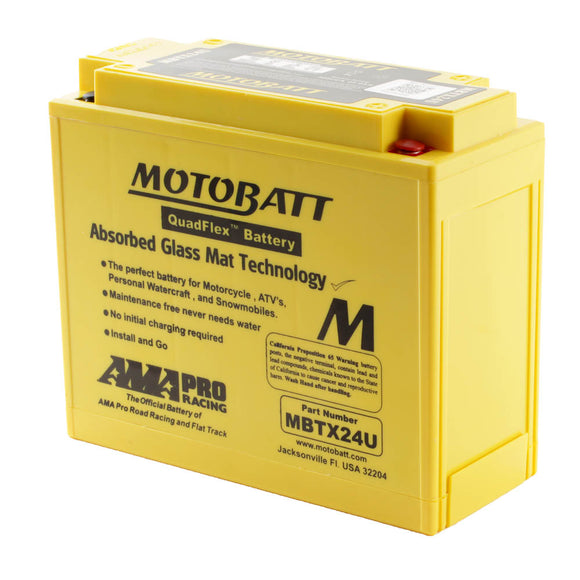 MBTX24U MOTOBATT QUADFLEX BATTERY (4PCS/CTN)
