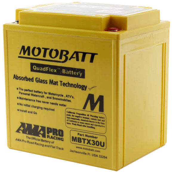 MBTX30U MOTOBATT QUADFLEX BATTERY (2PCS/CTN)