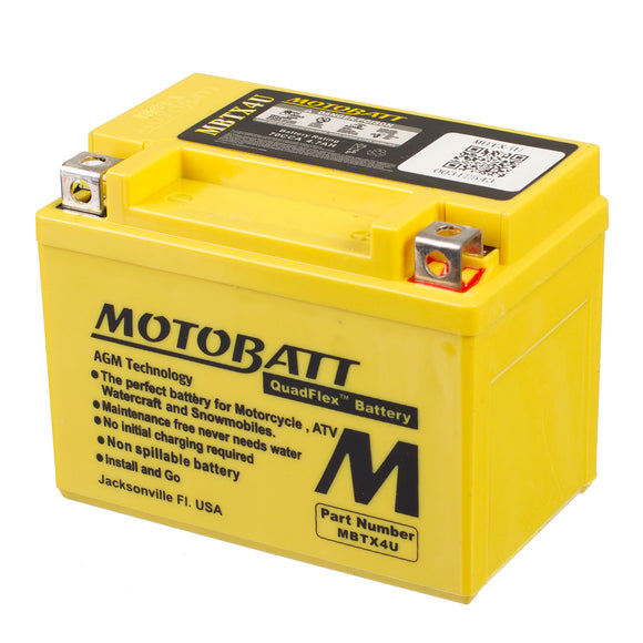 MBTX4U MOTOBATT QUADFLEX BATTERY (10PCS/CTN)