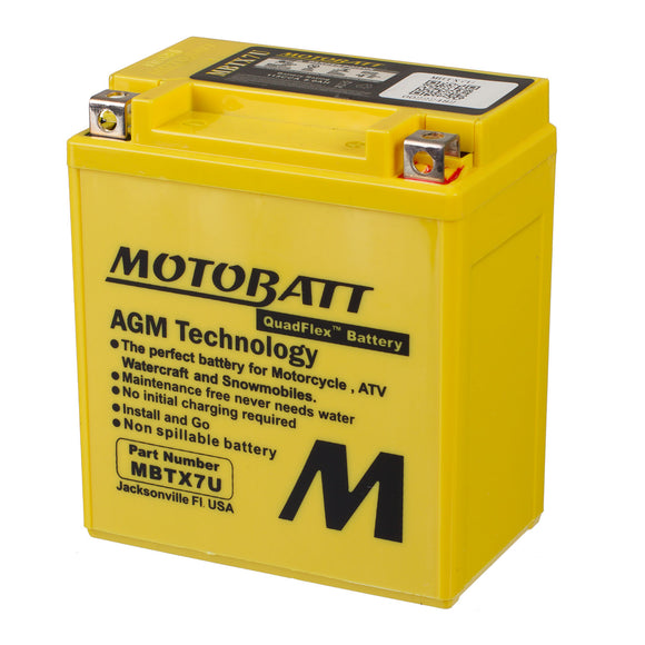 MBTX7U MOTOBATT QUADFLEX BATTERY (8PCS/CTN)