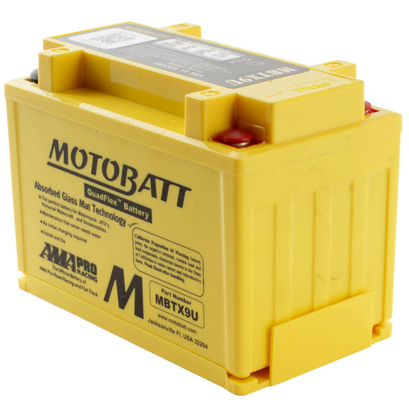 MBTX9U MOTOBATT QUADFLEX BATTERY (8PCS/CTN)