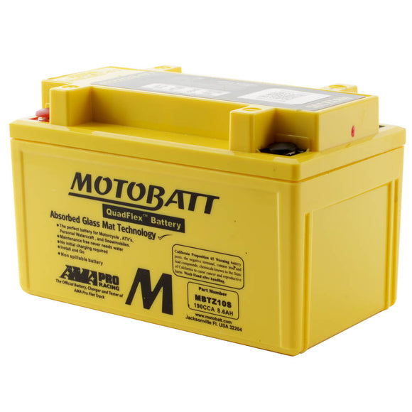 MBTZ10S MOTOBATT QUADFLEX BATTERY (8PCS/CTN)