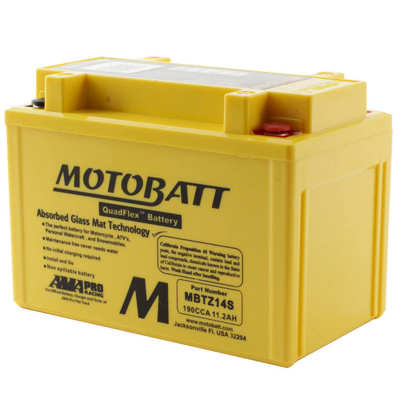 MBTZ14S MOTOBATT QUADFLEX BATTERY (8PCS/CTN)