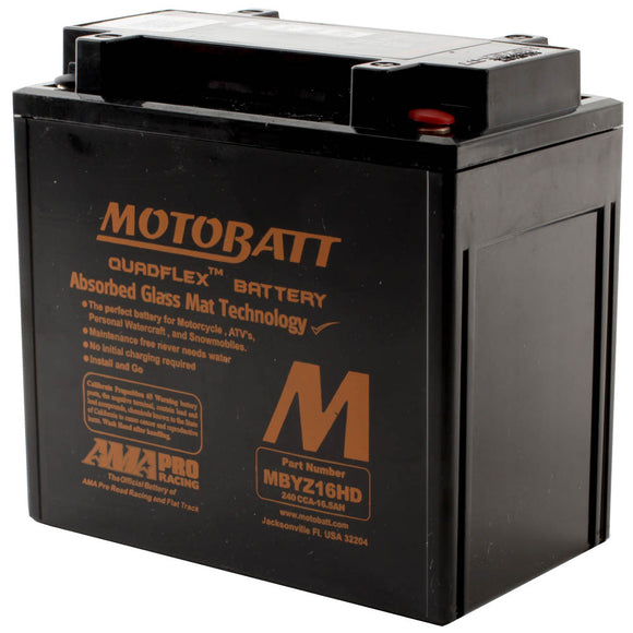 MBYZ16HD BLACK MOTOBATT QUADFLEX BATTERY (4PCS/CTN)