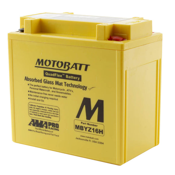 MBYZ16-H MOTOBATT QUADFLEX BATTERY (4PCS/CTN)