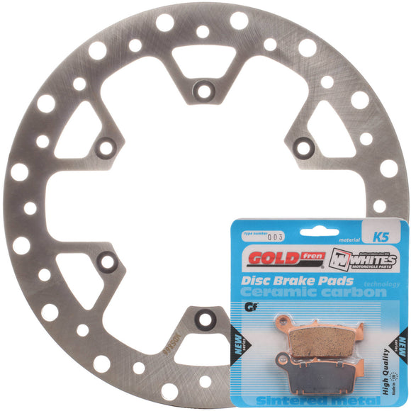 BRAKE ROTOR & PAD REAR KIT - SUZ RM250 06-11