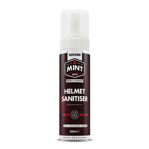 OXFORD MINT HELMET SANITISER FOAM SPRAY 200ml