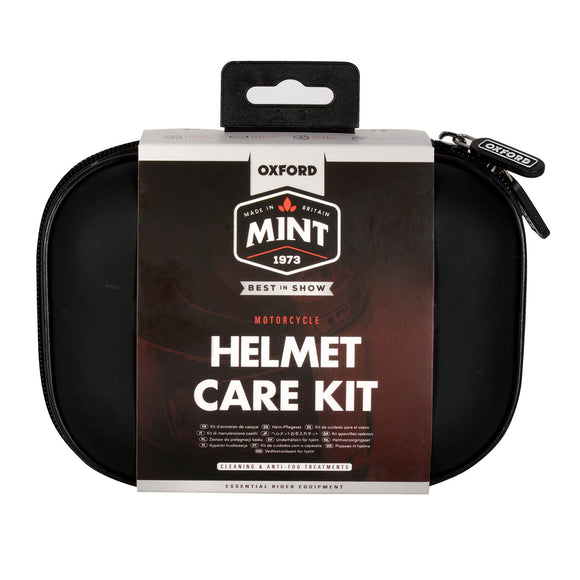 OXFORD MINT HELMET CARE KIT W/ CARRY CASE