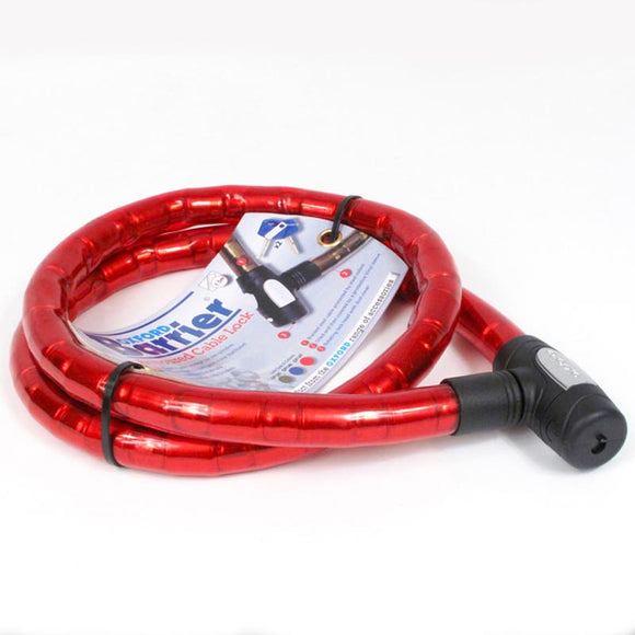 OXFORD BARRIER ARMOURED CABLE LOCK - RED