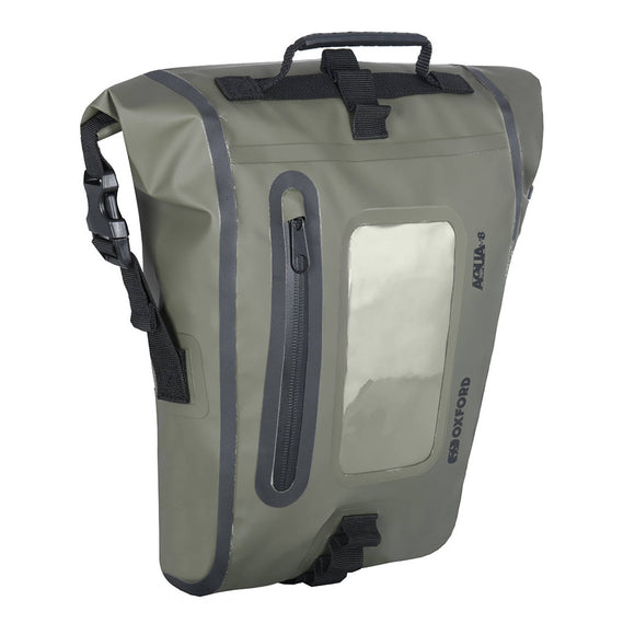 OXFORD AQUA LUGGAGE M8 TANK PACK BLK/KHAKI