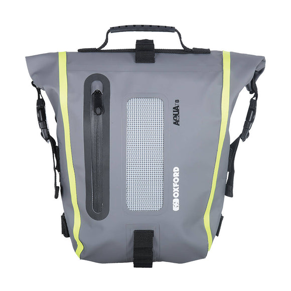 OXFORD AQUA LUGGAGE T8 TAIL PACK BLK/GRY/FLUO