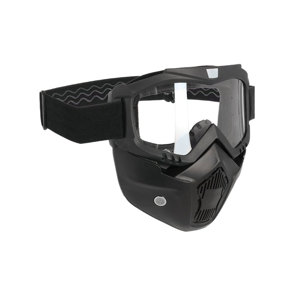 OXFORD ASSAULT FACE MASK BLK with CLR LENS