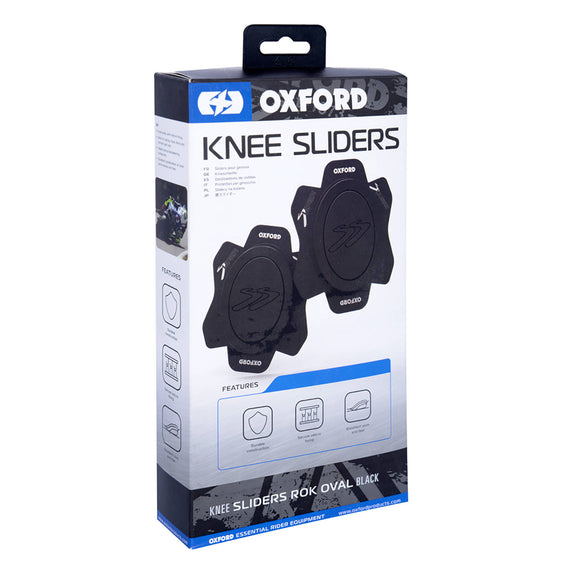 OXFORD ROK OVAL KNEE SLIDERS BLK PR