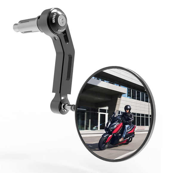 OXFORD PREMIUM BAR END MIRROR RIGHT BLK