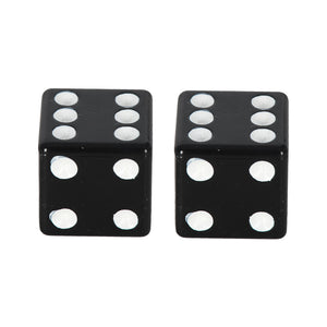 OXFORD LUCKY DICE VALVE CAPS BLK PAIR  (NEW)