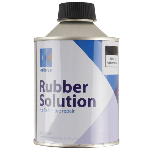 KRONYO RUBBER SOLUTION / VULCANISING GLUE 250ML