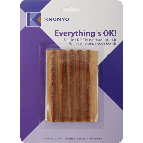 KRONYO TYRE SEAL STRINGS (ONE CARD-10cm x5 strips) DOG TURDS