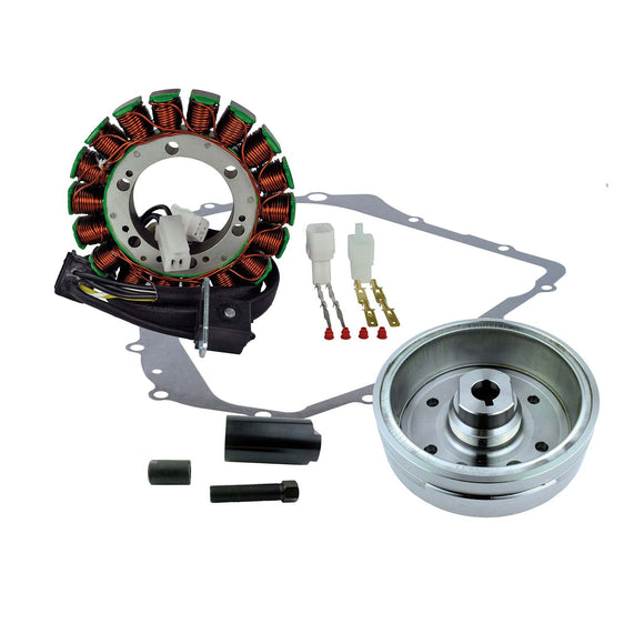KIT IMPROVED FLYWHEEL+PULLER+STATOR+GASKET (RM23049)