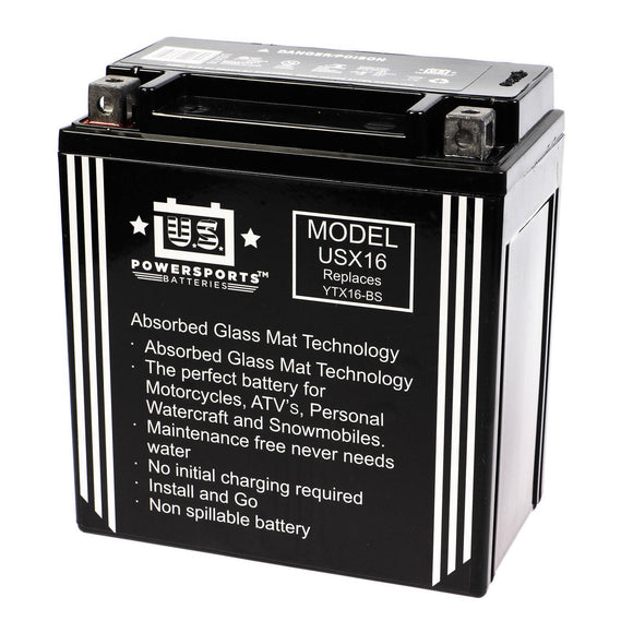 USPS AGM BATTERY US16X    YTX16-BS YTX20CH-BS *4