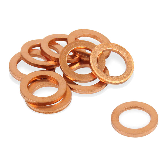 WHITES CRUSH WASHER - COPPER 10X18X1.5 (100pcs/pk)