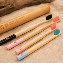 Load image into Gallery viewer, Bamboo Toothbrush, kids - Bamboo Family