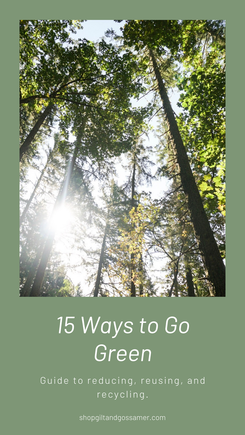 Fifteen Ways to Go Green