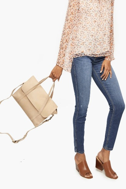 ABLE Elsabet Top Handle Crossbody - gilt+gossamer