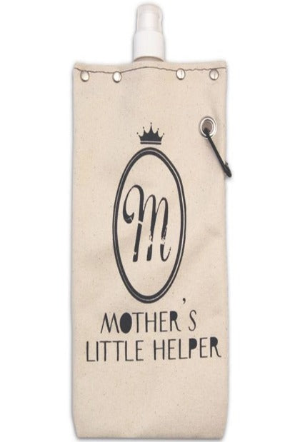 750ML Canvas Flask-Mother's Little Helper