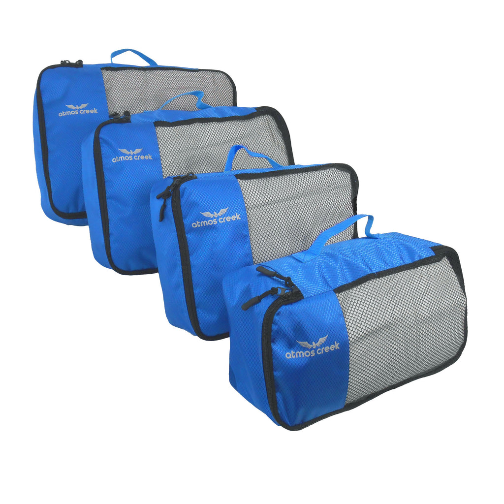 Atmos Creek AC SOMBRE 50 Litres Travel Cubes Travel organiser packing cubes Pack of 4 Unisex Blue