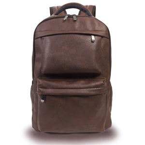 PU leather laptop backpack bag brown Atmos Creek