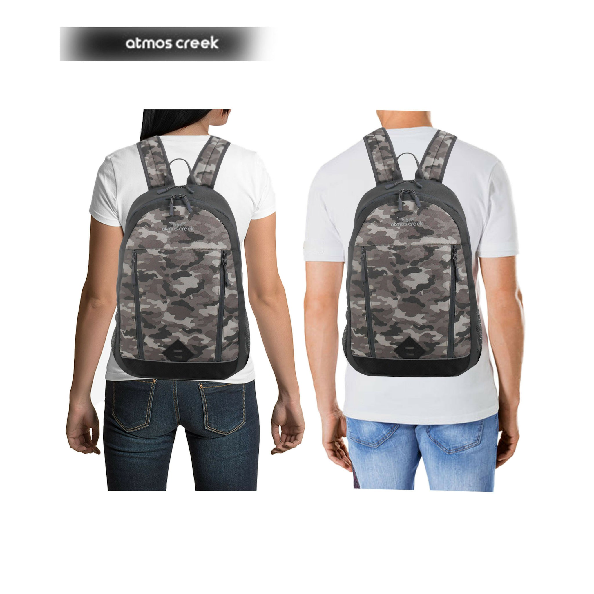 Camouflage casual backpack with laptop compartment for boys and girls Atmos Creek