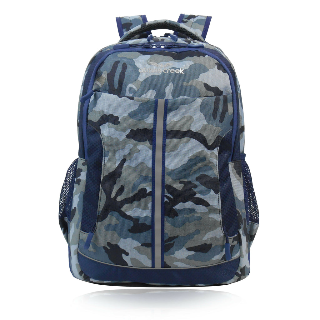 Atmos Creek SHIP camouflage printed casual laptop backpack for boys and girls college and office