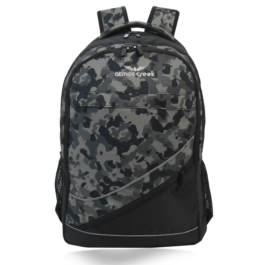 Atmos Creek WOKE camouflage casual backpack with laptop sleeve for boys and girls