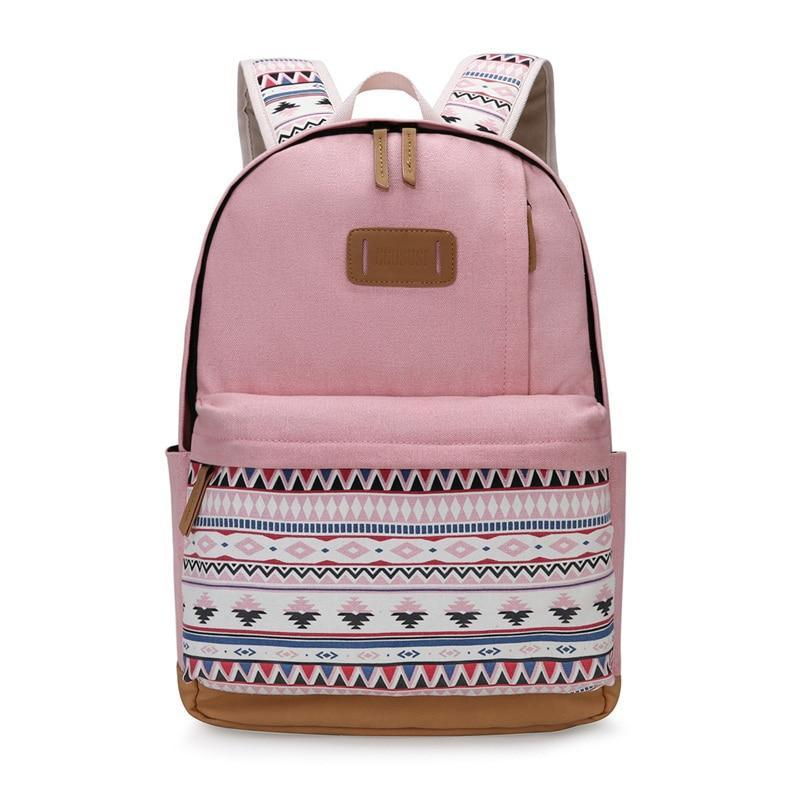 Cute printed vintage backpack for girls and  women college teenage girls laptop backpack