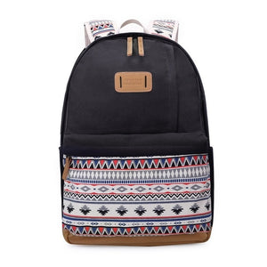 8490cfb2c4 Cute printed vintage backpack for girls and women college teenage girls  laptop backpack
