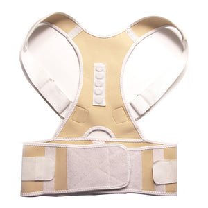 Magnetic Posture Corrector for Lower and Upper Back Pain beige