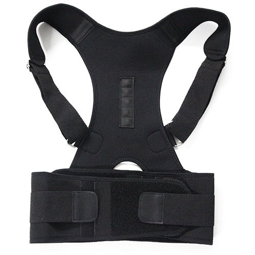 Magnetic Posture Corrector for Lower and Upper Back Pain black