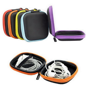 Multipurpose earphone wire travel organizer carrying cases