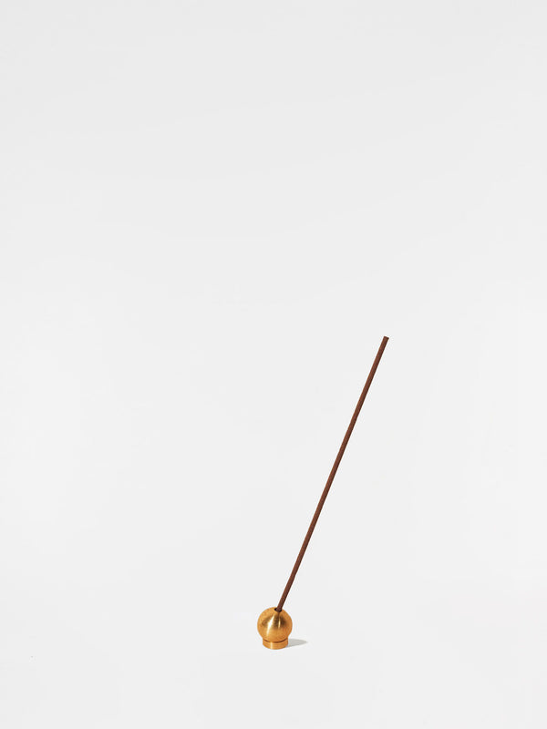 Bodha Polished Brass Incense Holder