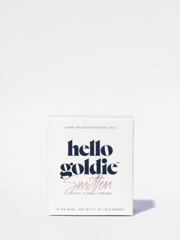 Hello Goldie Smitten Tea Box Front