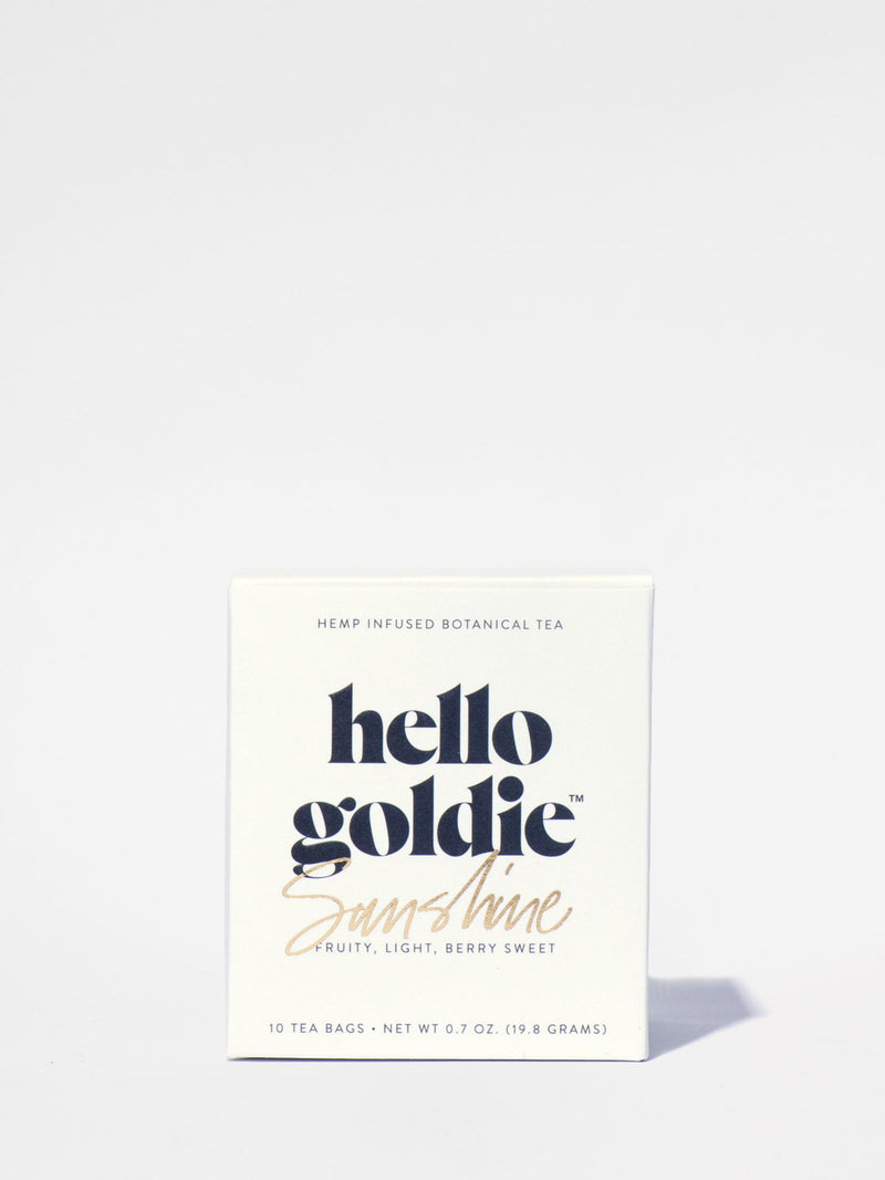 Hello Goldie Sunshine Tea Box Front